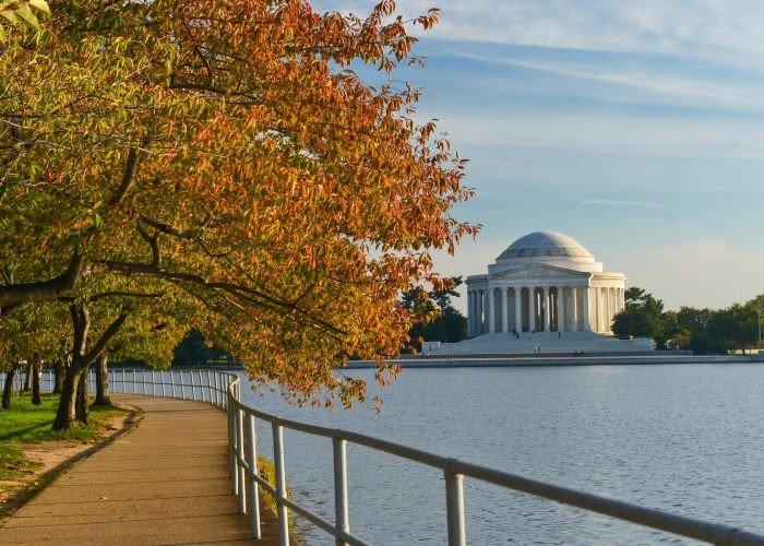 Trip Ideas outdoor water sky tree season morning estate River autumn leaf park reflection Lake waterway overlooking walkway