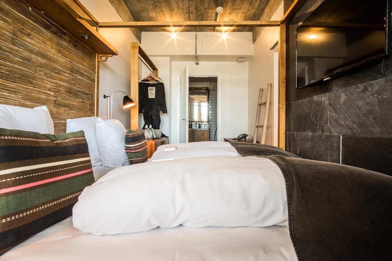 Boutique Hotels Copenhagen Denmark Hotels indoor bed room wall Bedroom hotel ceiling interior design Suite pillow furniture