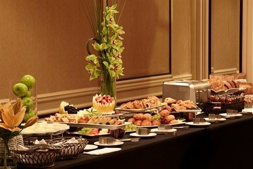 Eat buffet food brunch breakfast counter cuisine set dining table