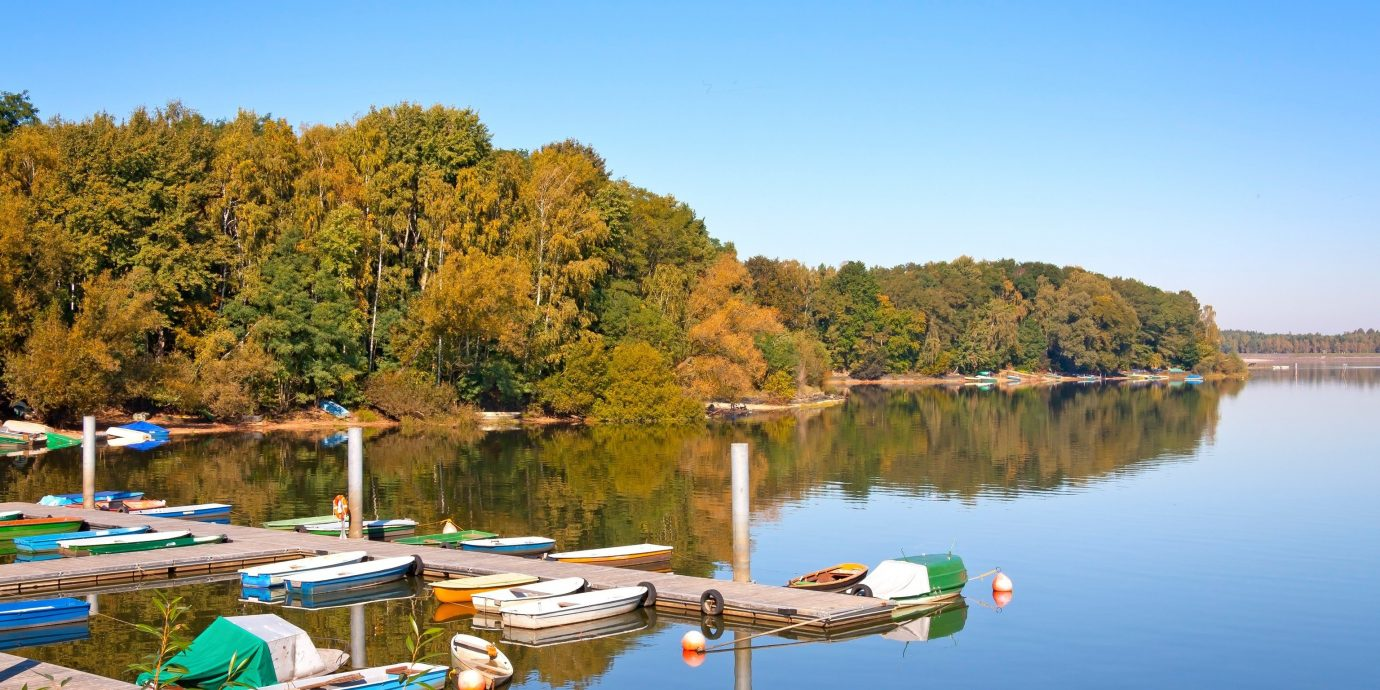 Trip Ideas water outdoor tree sky Boat Lake scene River Nature reservoir pond Harbor day