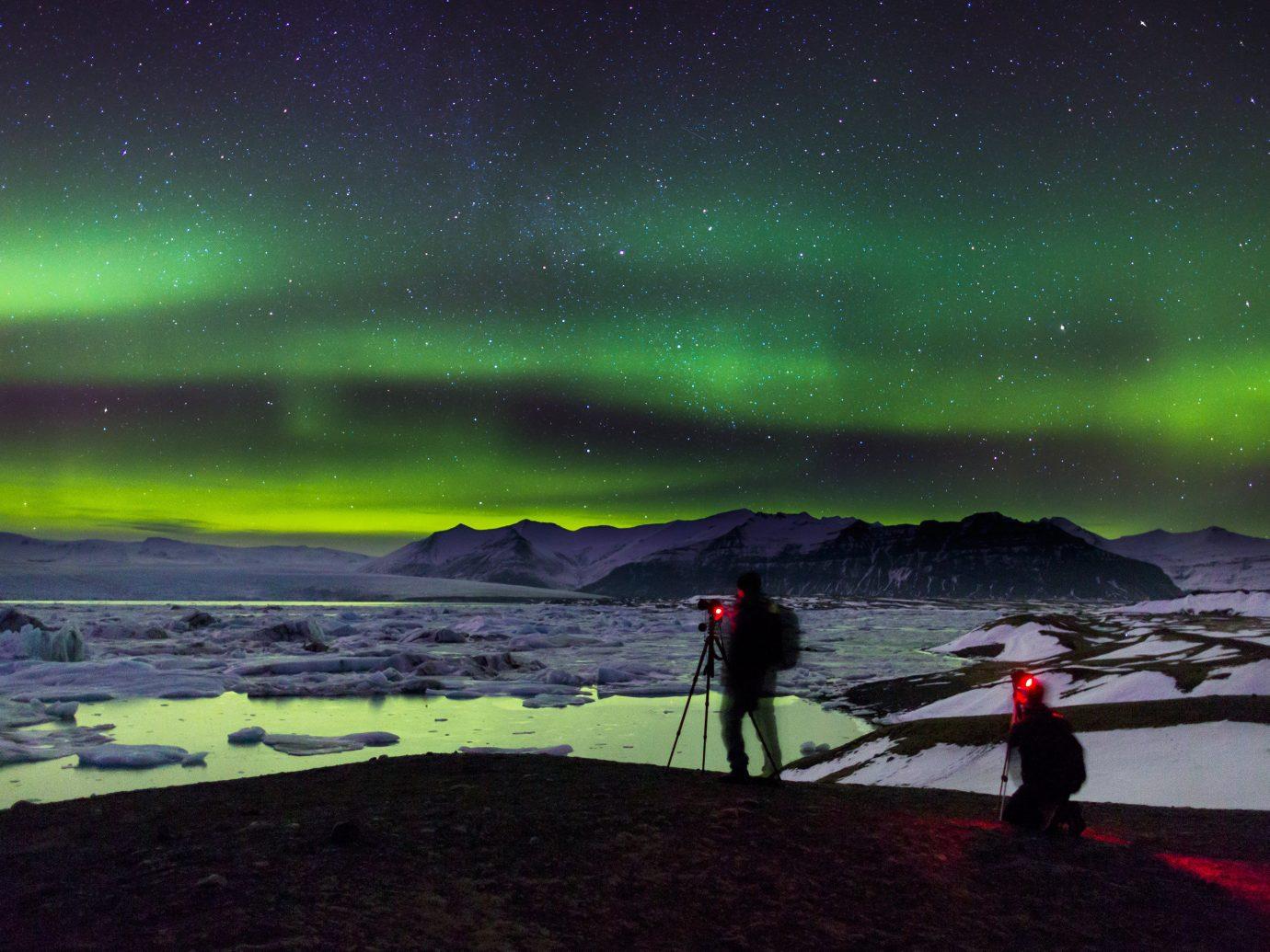 Iceland Travel Tips aurora outdoor atmosphere Night Sky