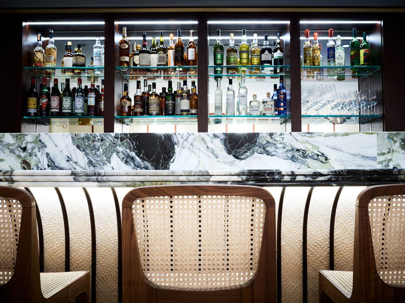 Food + Drink France Paris chair beer Bar machine