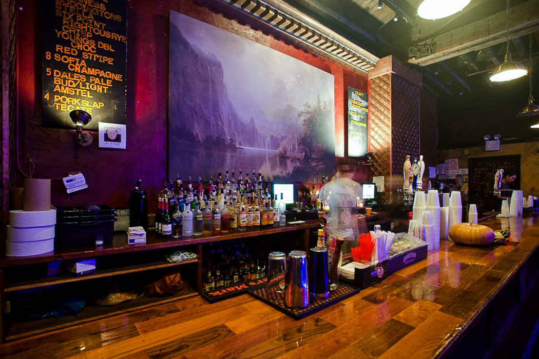Bar at the Bell House in Gowanus - Brooklyn NY