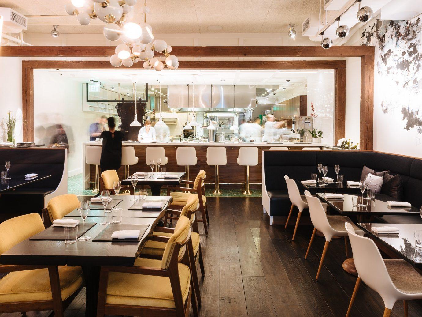 Food + Drink indoor floor table window room restaurant dining room ceiling meal interior design function hall brunch furniture Island dining table