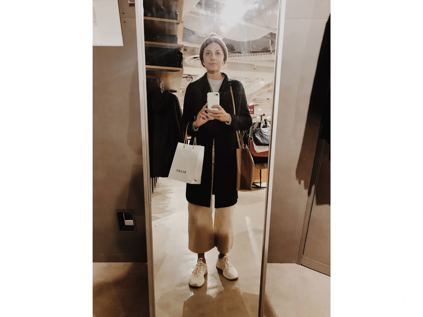 Influencers + Tastemakers Japan Photo Diary Tokyo indoor fashion model shoulder suit fashion coat outerwear joint shoe socialite fashion design posing
