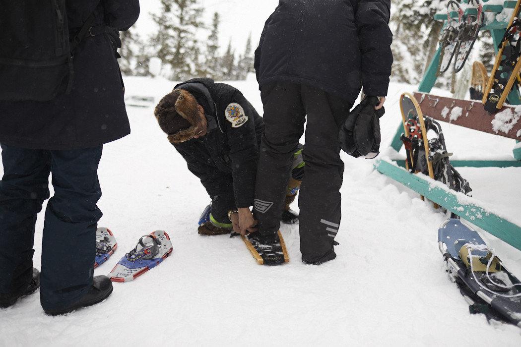 Health + Wellness Meditation Retreats Offbeat snow person outdoor skiing footwear Winter weather standing season snowshoe winter sport people snowboard nordic skiing snowboarding slope