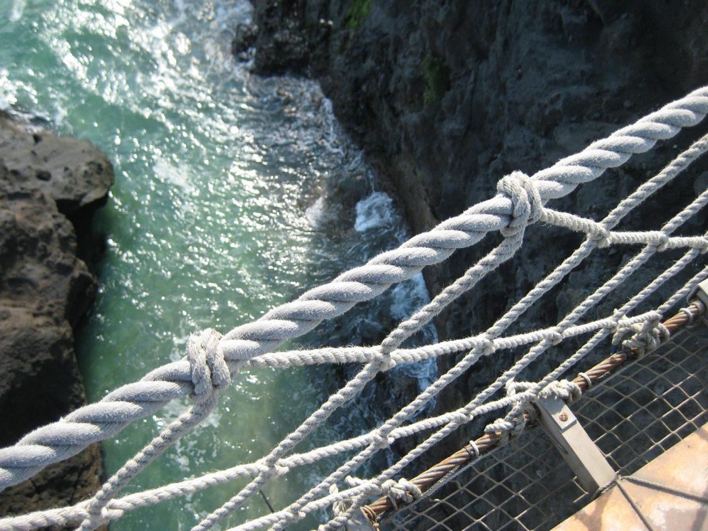 Offbeat outdoor rock water River black rope