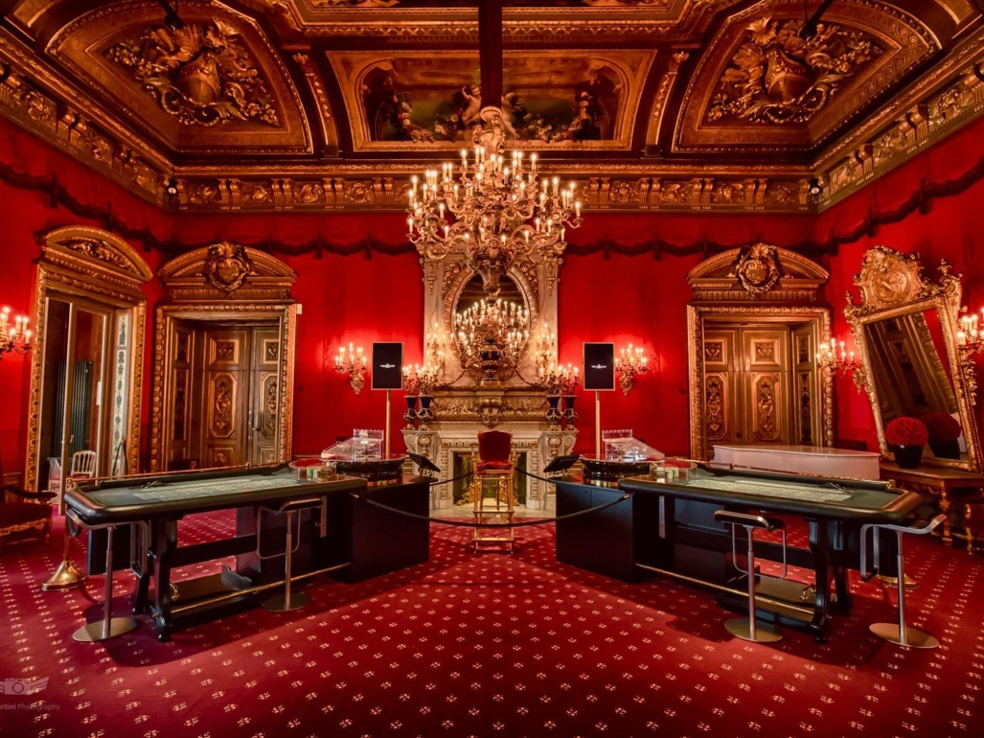 Hotels indoor room red floor building Living function hall stage ballroom theatre palace furniture