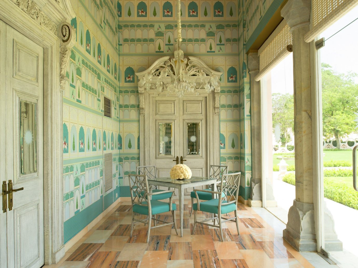 Style + Design floor property building room estate Architecture home mansion interior design palace Courtyard Lobby furniture