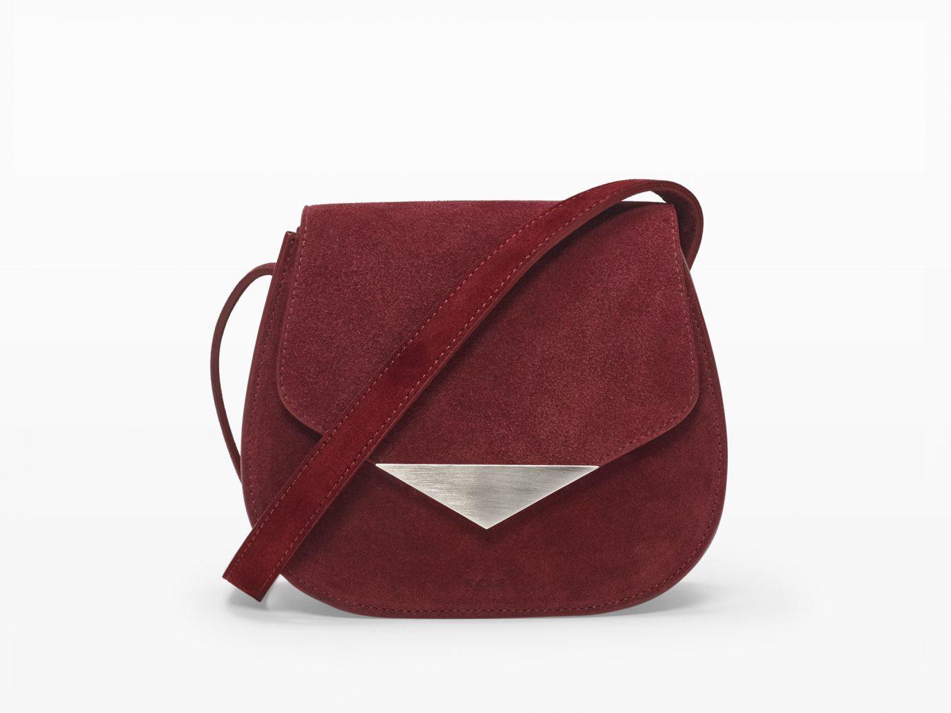 Style + Design bag handbag red maroon brown shoulder bag leather magenta fashion accessory textile messenger bag accessory