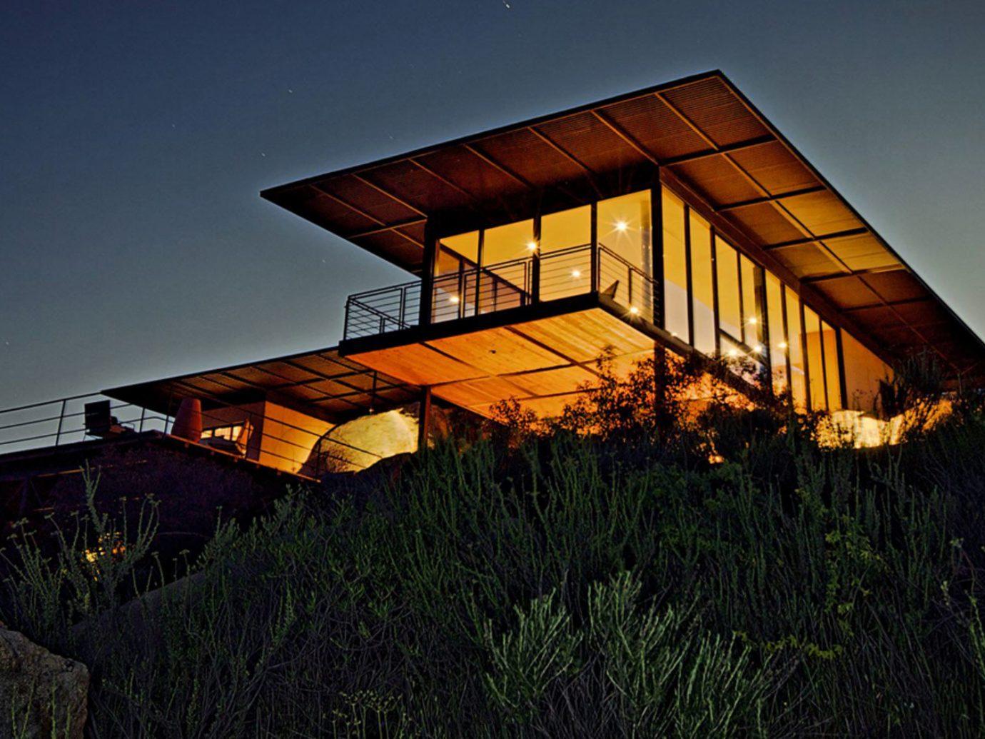 Trip Ideas sky outdoor grass night house light urban area Architecture evening lighting dusk sunlight Sunset lush hillside