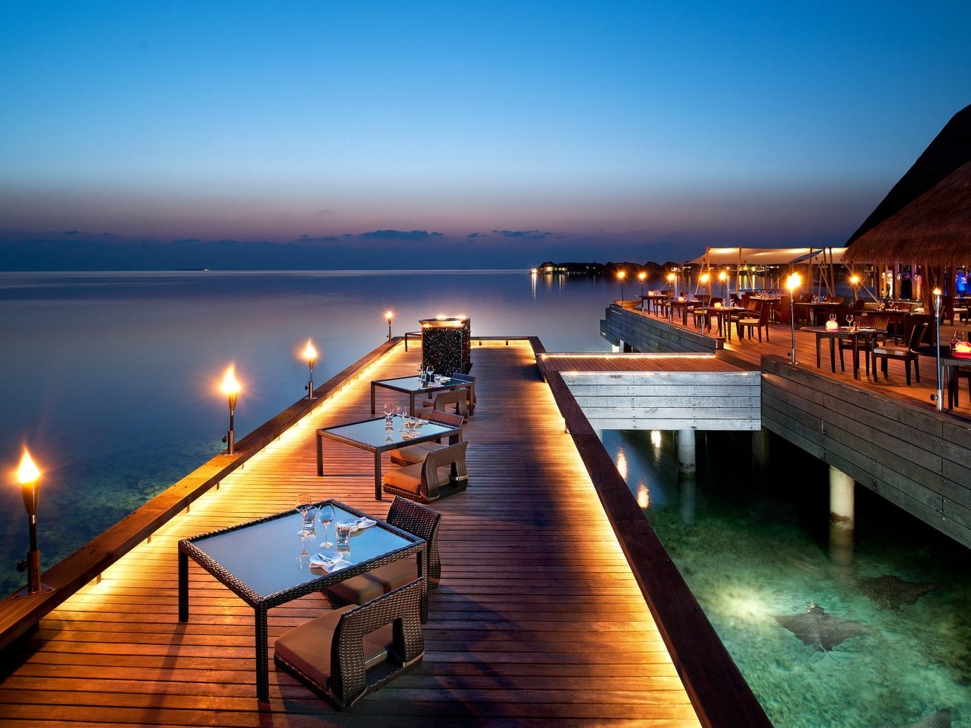 Trip Ideas sky water scene outdoor pier Sea reflection Ocean night vacation evening dock dusk Sunset bay Resort marina