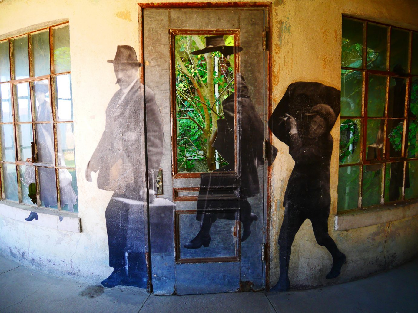 Offbeat color photograph wall art black street tourist attraction art gallery painting
