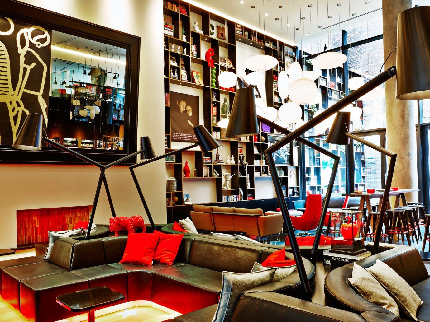 Budget City Living Lobby Lounge Modern indoor room interior design living room home Design furniture