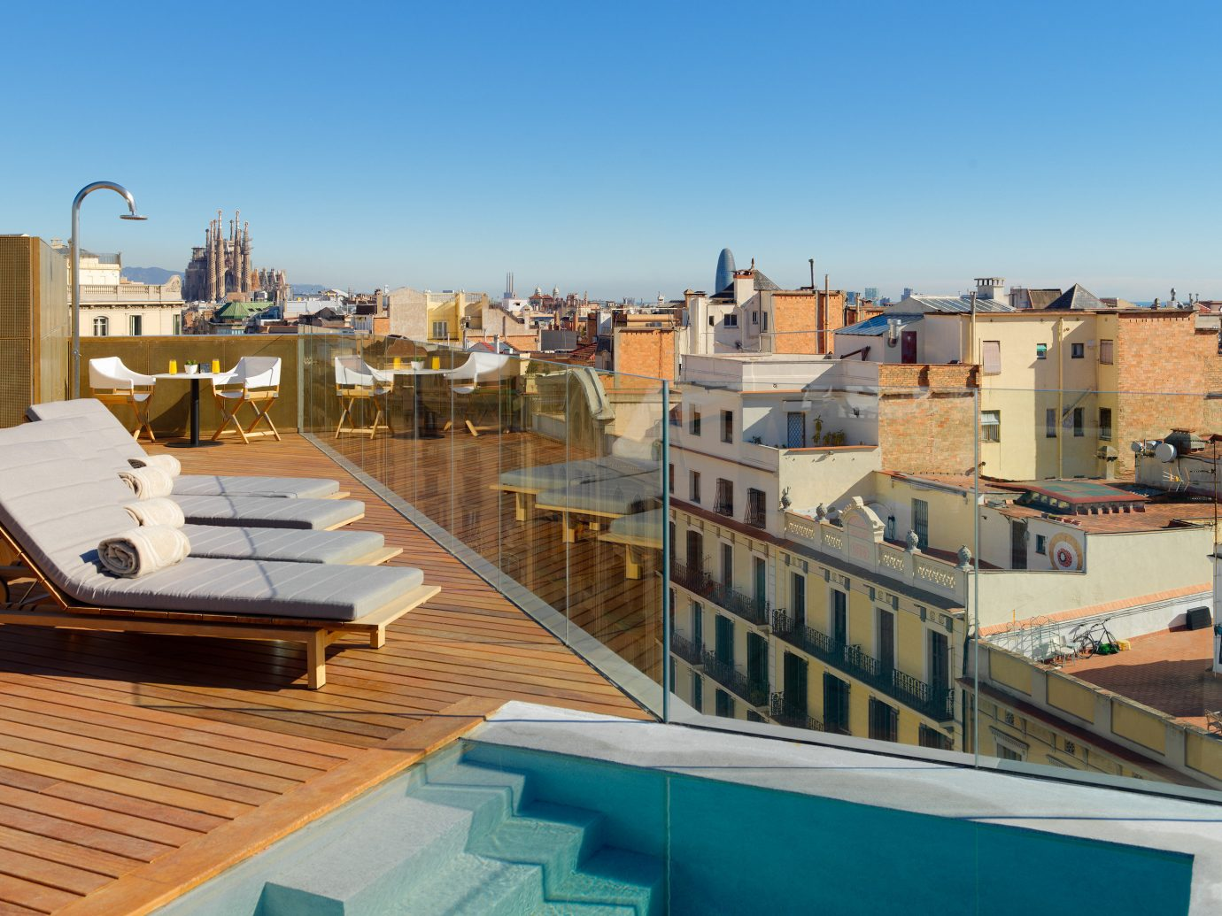 Barcelona Hotels Spain sky outdoor roof property residential area Town apartment City real estate home neighbourhood condominium house outdoor structure building Balcony hotel vacation water