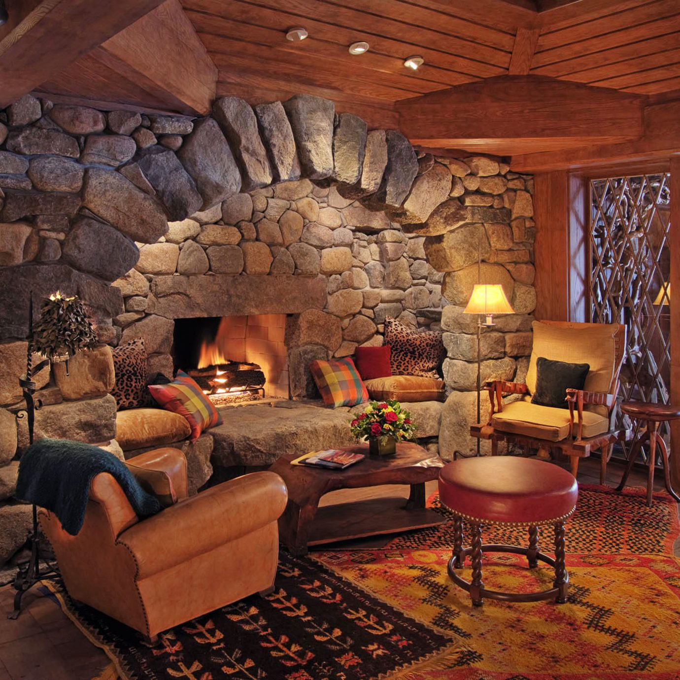 duplicate living room property Fireplace home cottage log cabin farmhouse hearth