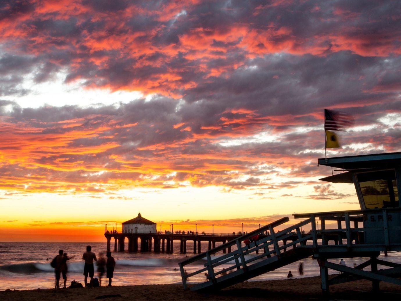 Trip Ideas outdoor sky water Sunset afterglow scene cloud pier horizon sunrise evening dusk dawn morning Sea Ocean Coast Beach setting clouds cloudy