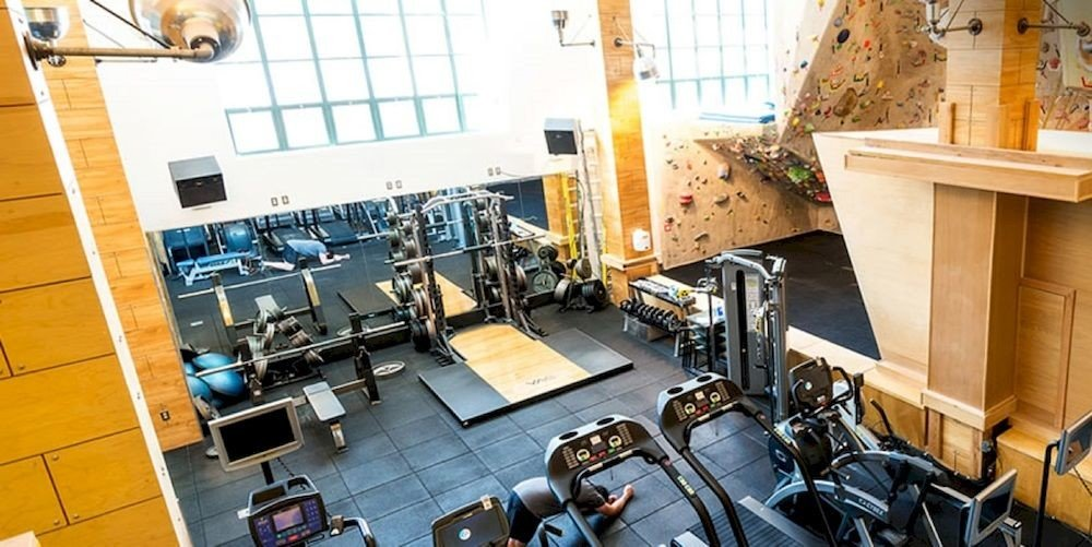 Fitness Lodge Sport Wellness office cluttered