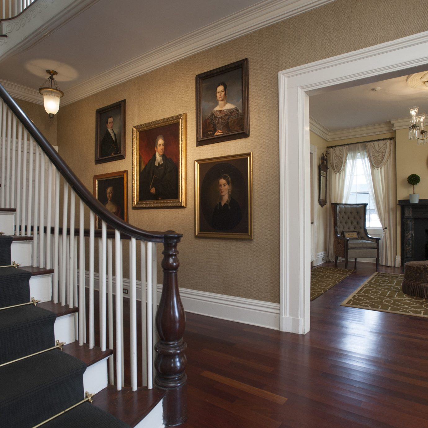 property home stairs hardwood house living room wood flooring flooring mansion hall