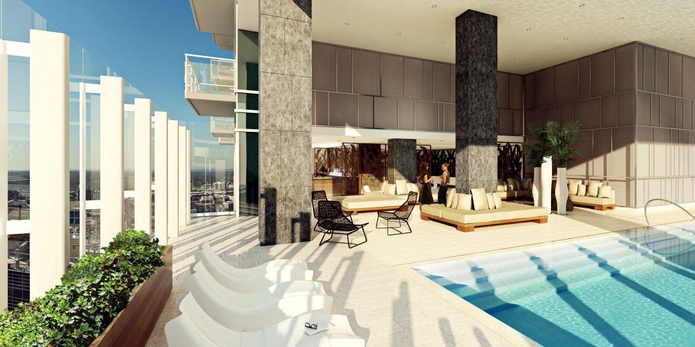 Food + Drink Lounge Luxury Modern Pool property condominium swimming pool home Villa mansion