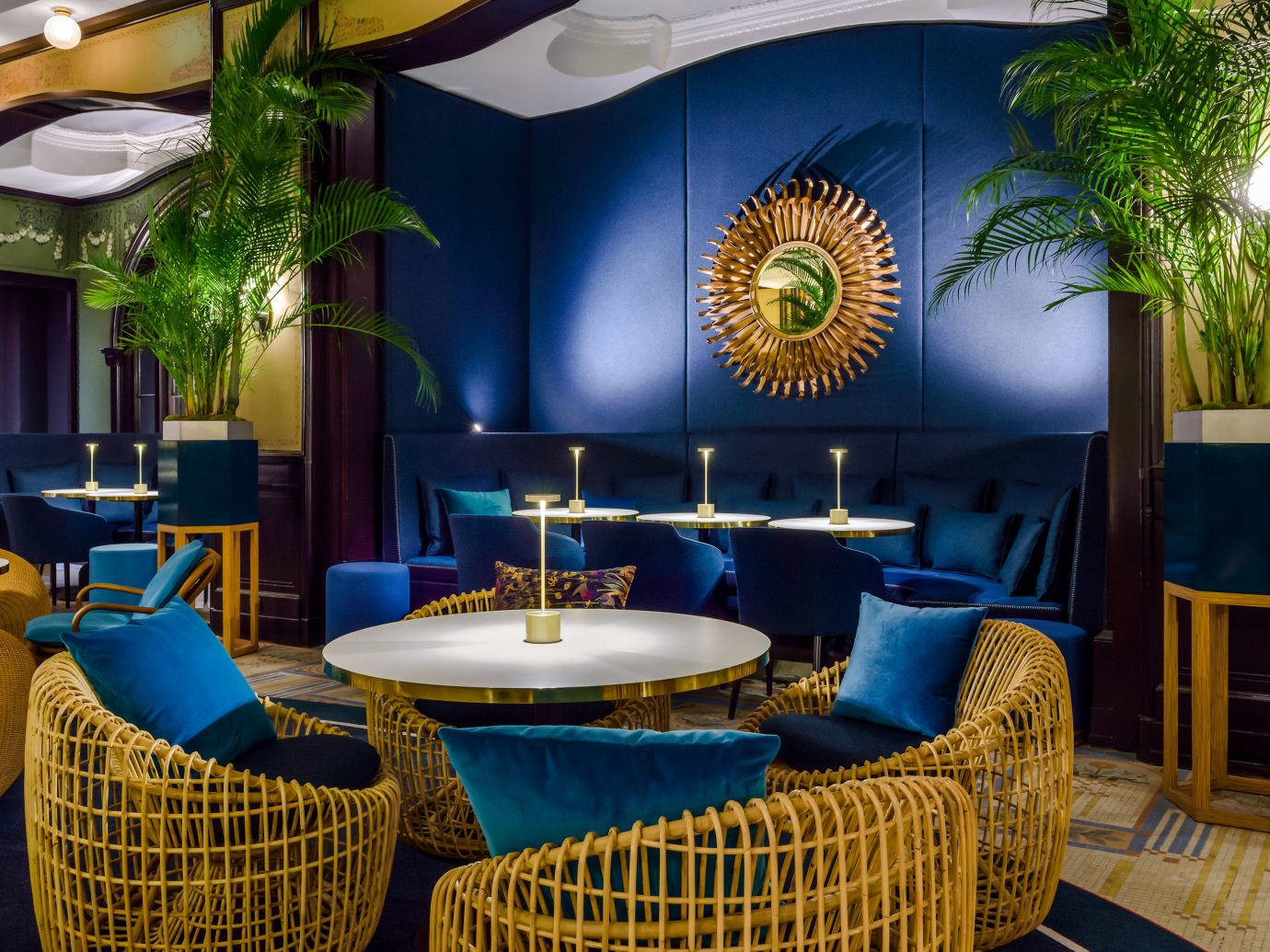 Boutique Hotels Hotels chair restaurant interior design yellow Dining table real estate furniture colorful