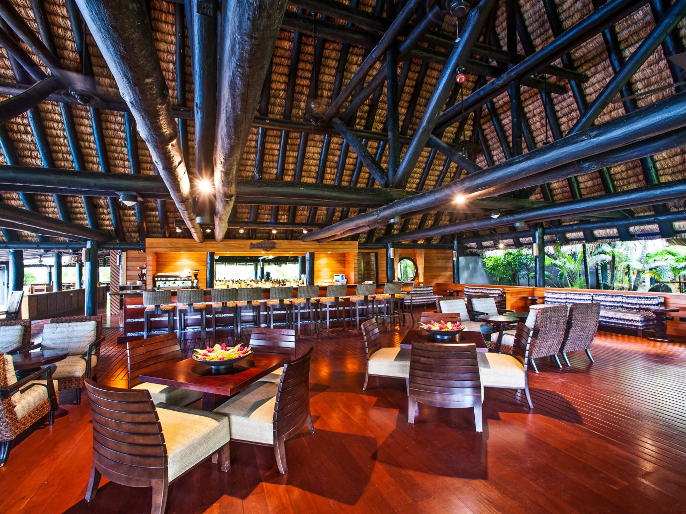 restaurant at Jean-Michel Cousteau Resort, Fiji