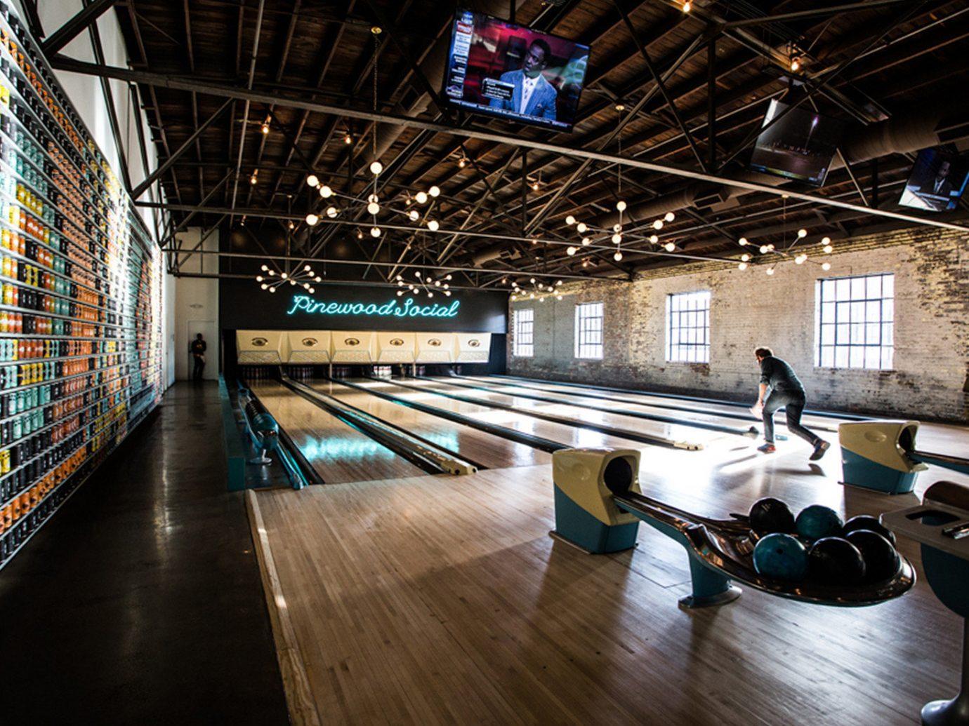 Girls Getaways Jetsetter Guides Trip Ideas Weekend Getaways indoor floor ten pin bowling ceiling sports bowling sport venue platform station public transport subway