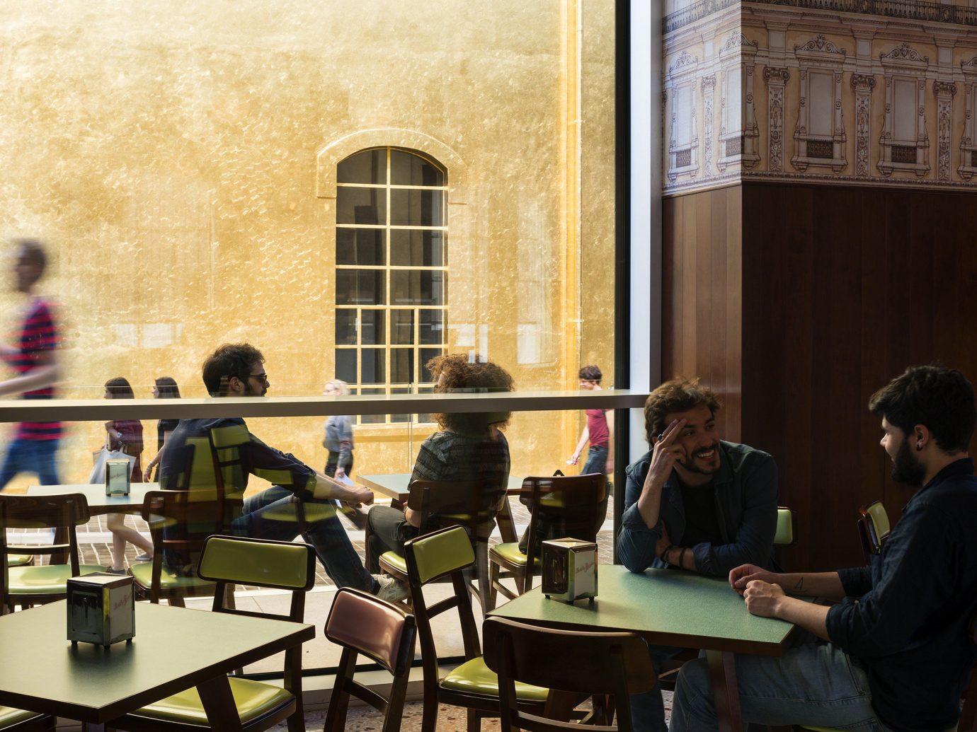 Food + Drink person room interior design tourist attraction