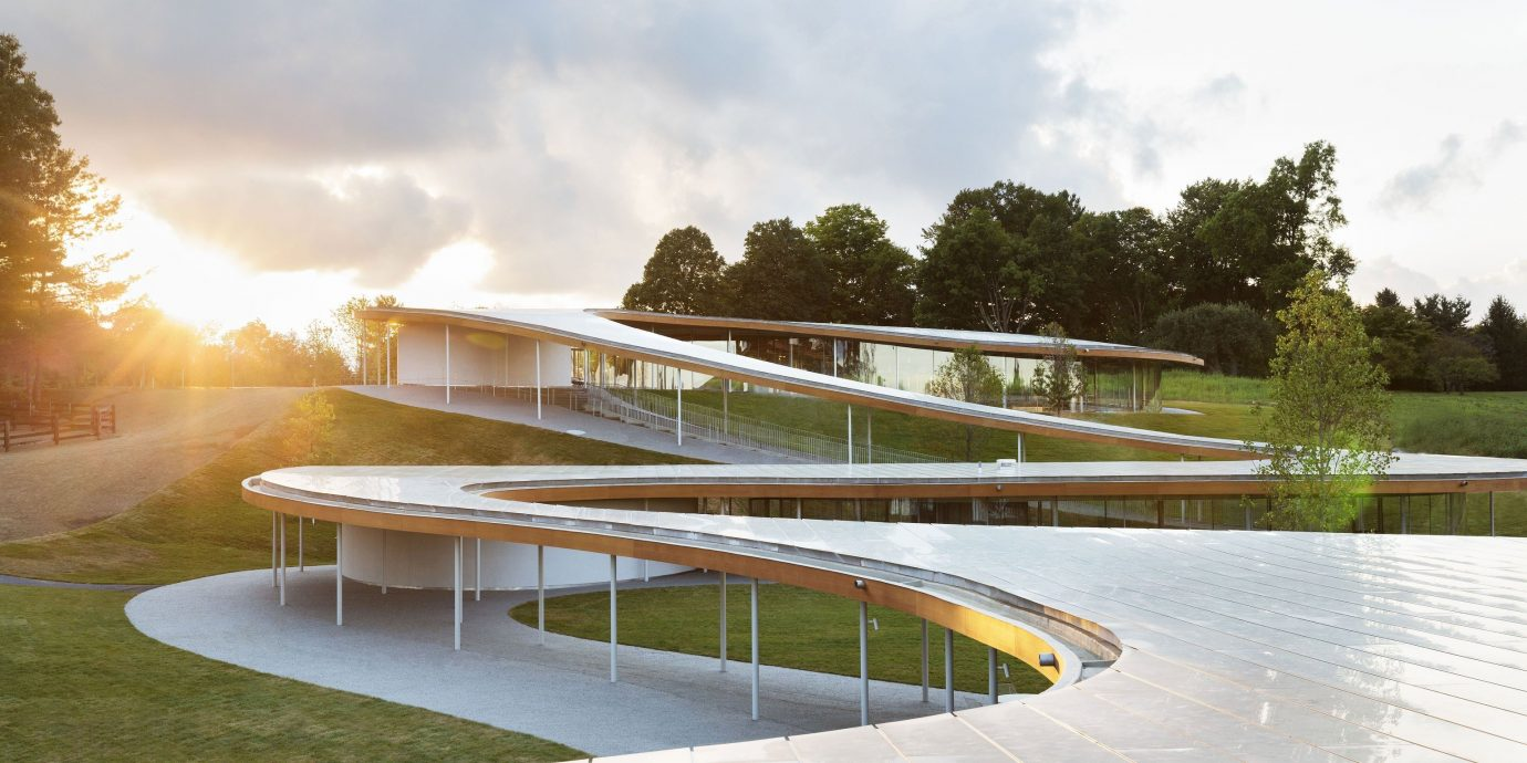 Arts + Culture sky outdoor grass structure Architecture reflection atmosphere of earth sport venue sunlight day