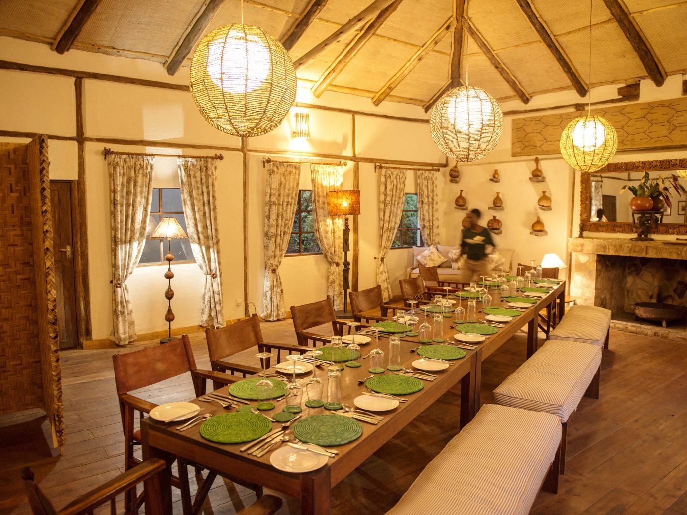 Hotels Outdoors + Adventure indoor table floor room ceiling function hall interior design dining room restaurant estate furniture