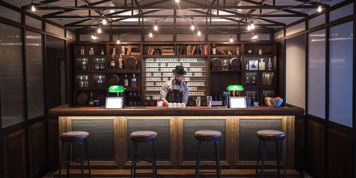 Food + Drink indoor ceiling floor room interior design lighting Lobby estate Design Bar