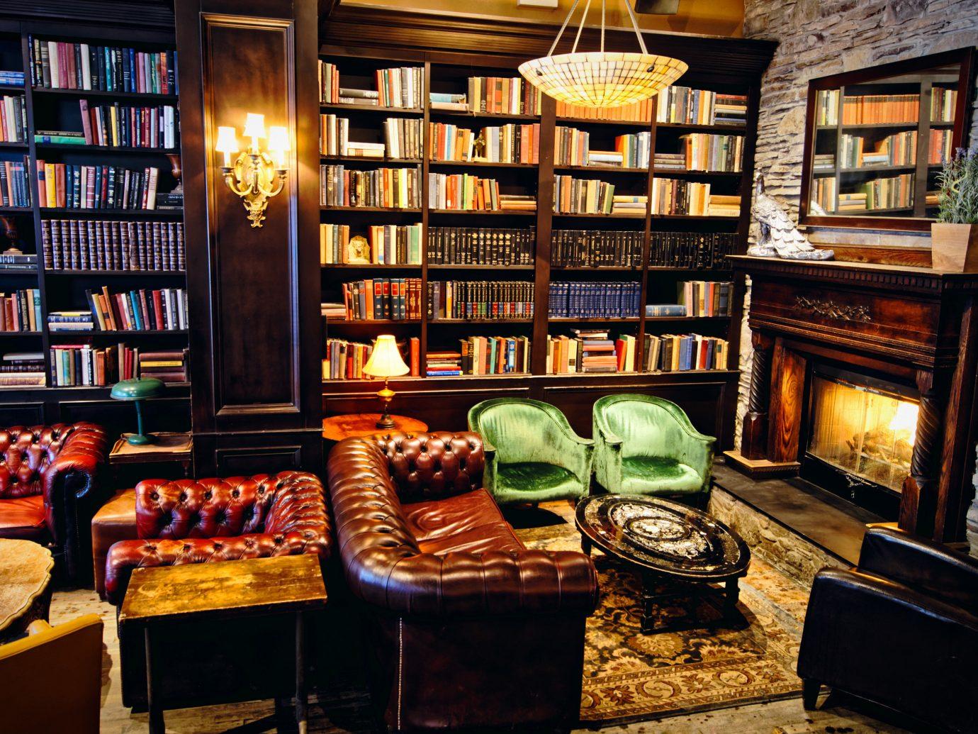 Trip Ideas indoor Living shelf book room building Fireplace home interior design living room estate Bar furniture
