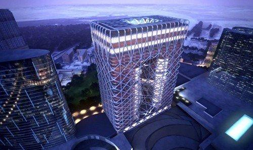 Style + Design skyscraper indoor landmark metropolis night skyline cityscape tower stadium tower block grill