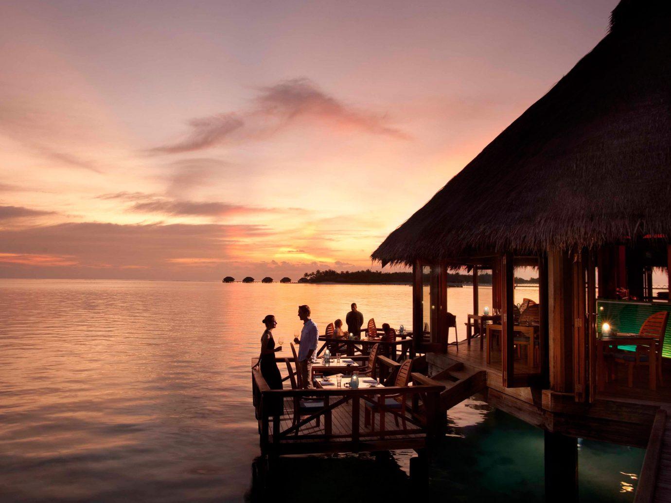 Conrad Maldives Rangali Island at night
