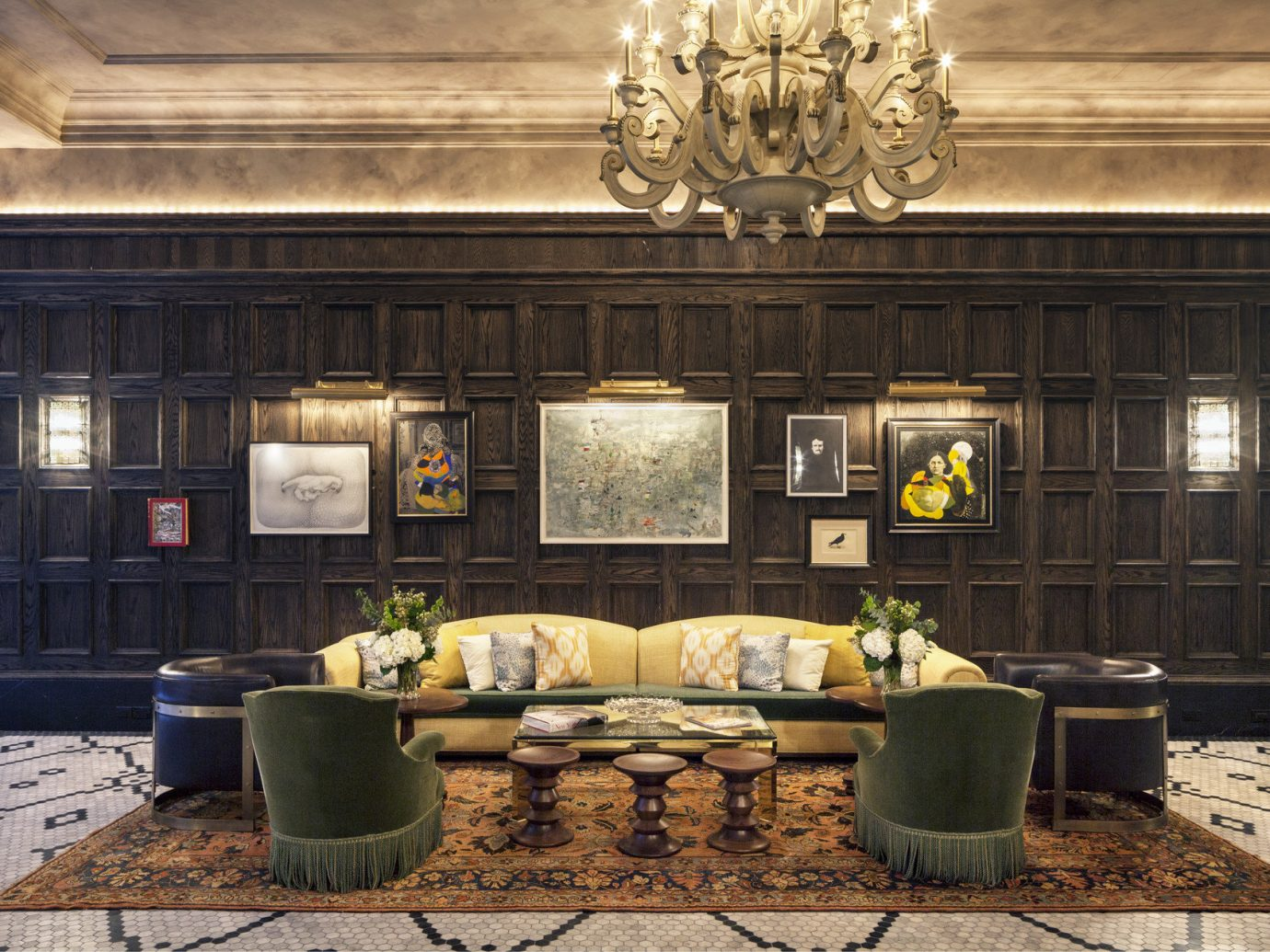 The Beekman, a Thompson Hotel Hotels NYC room living room Lobby estate interior design home lighting mansion Design