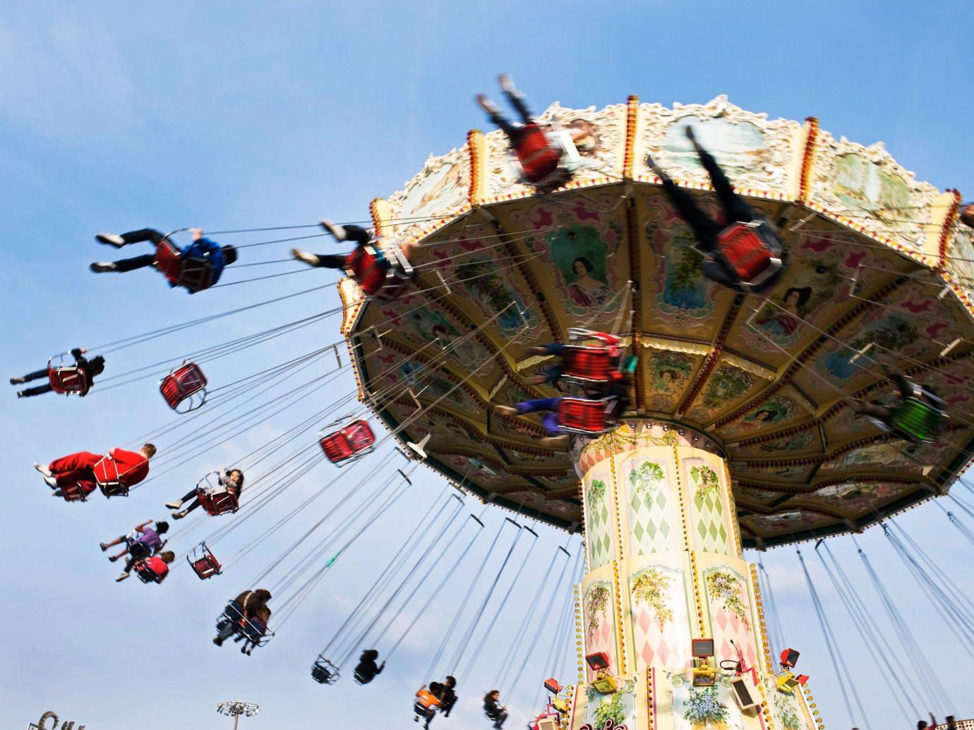 Offbeat sky amusement park outdoor atmosphere of earth park outdoor recreation amusement ride recreation extreme sport fair tourist attraction