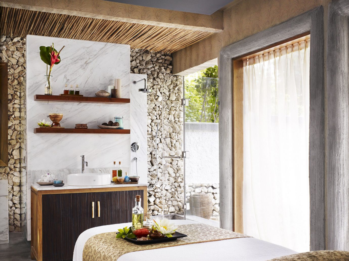 Beachfront Family Hotels Resort Spa Wellness indoor wall room property living room Living interior design home floor wood ceiling window covering estate curtain farmhouse furniture Design cottage window treatment Bedroom stone