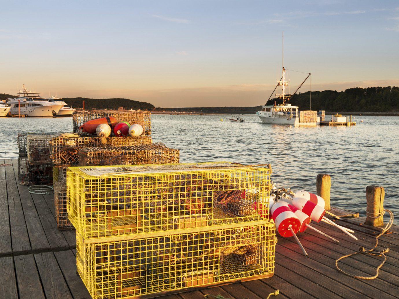 Romance Trip Ideas Weekend Getaways sky water outdoor pier Boat dock Sea vehicle vacation wooden Coast Harbor overlooking net