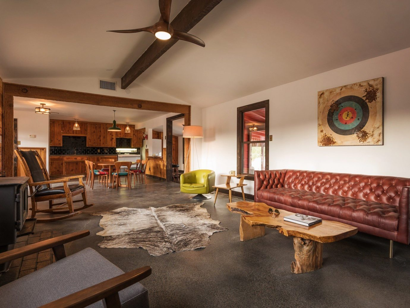 Boutique Hotels Fall Travel Hotels Outdoors + Adventure indoor wall ceiling floor room Living property living room interior design real estate furniture table estate apartment flooring loft area wood several