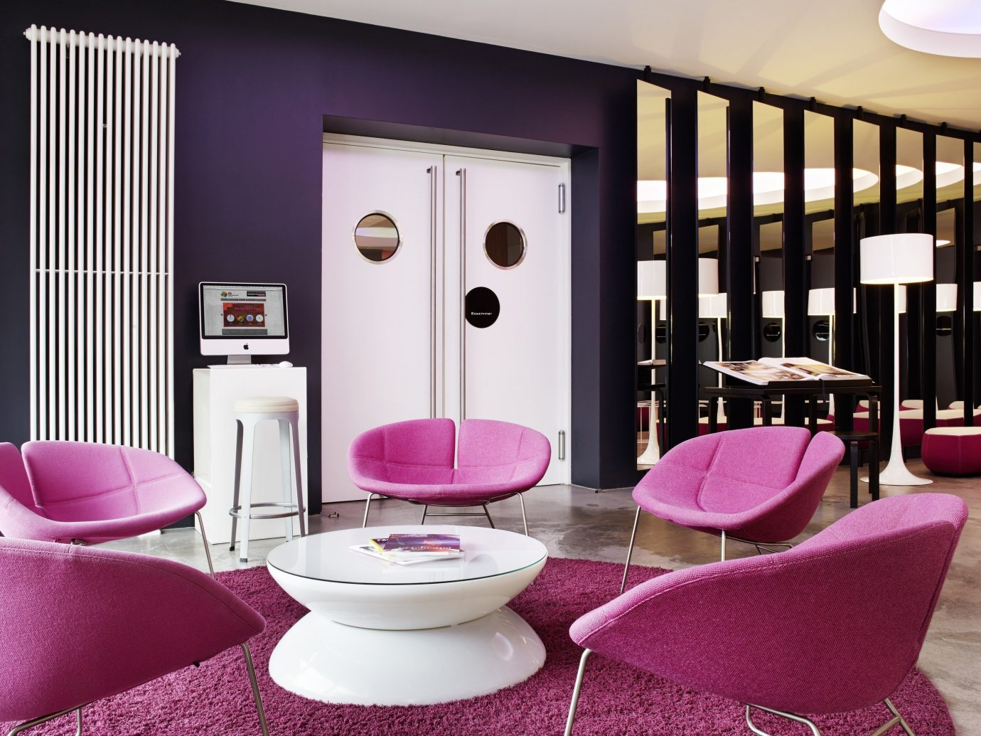 Travel Trends Trip Ideas pink room chair red furniture interior design purple living room Suite colored dining table