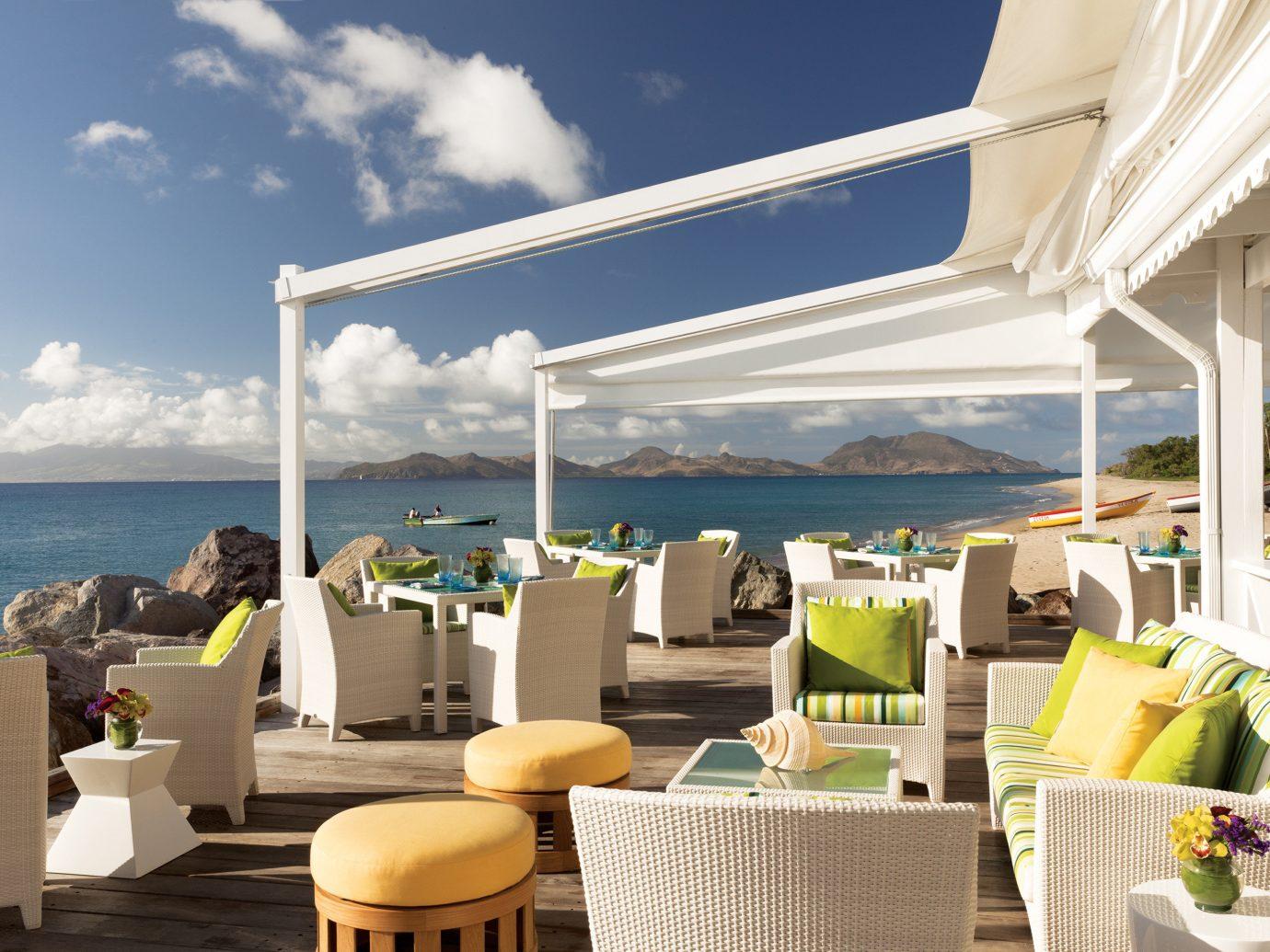 Hip Living Lounge Luxury Scenic views Trip Ideas sky vacation restaurant Resort interior design estate caribbean furniture day