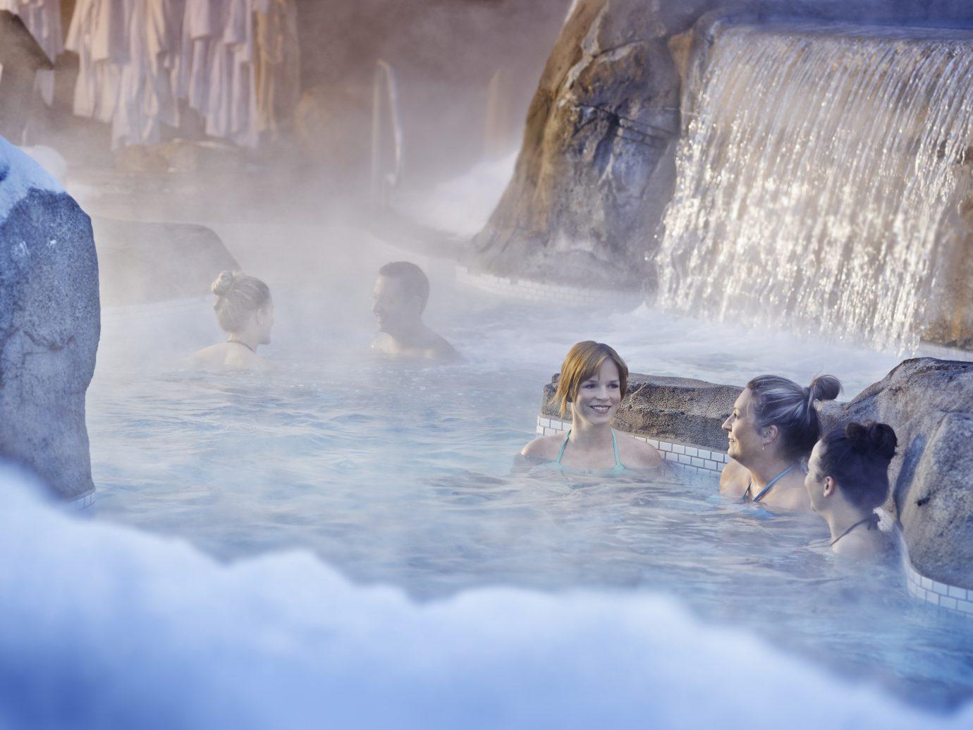 Health + Wellness Spa Retreats Trip Ideas water outdoor Winter ice season water feature Waterfall Sea