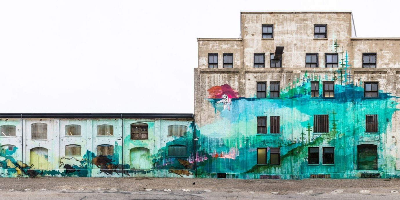 Summer Series building outdoor Town urban area neighbourhood art house facade mural