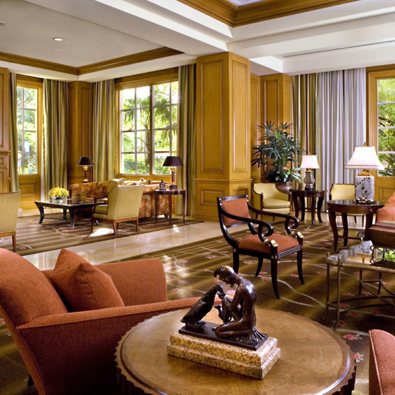 Hip Lounge Luxury Modern living room property Lobby condominium home Suite hardwood Resort mansion leather