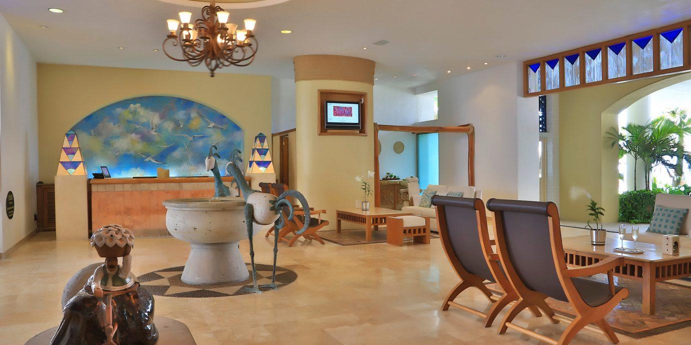 Hip Lounge Luxury Tropical property Lobby living room home Resort condominium Suite Villa mansion