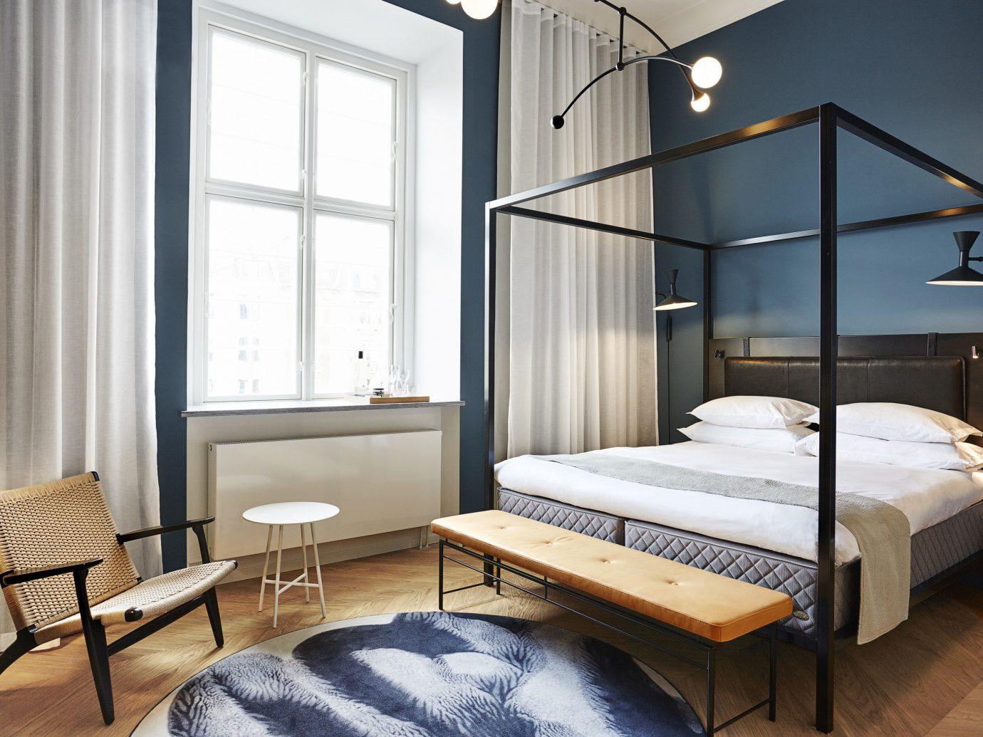 Boutique Hotels Copenhagen Denmark Hotels floor indoor bed room bed frame Bedroom interior design furniture ceiling window mattress hotel interior designer daylighting
