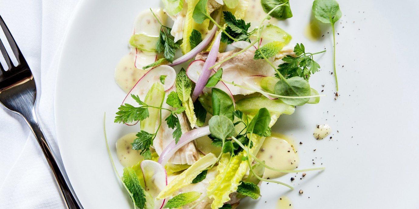 Food + Drink plate food dish produce vegetable land plant white cuisine flowering plant meal arranged piece de resistance