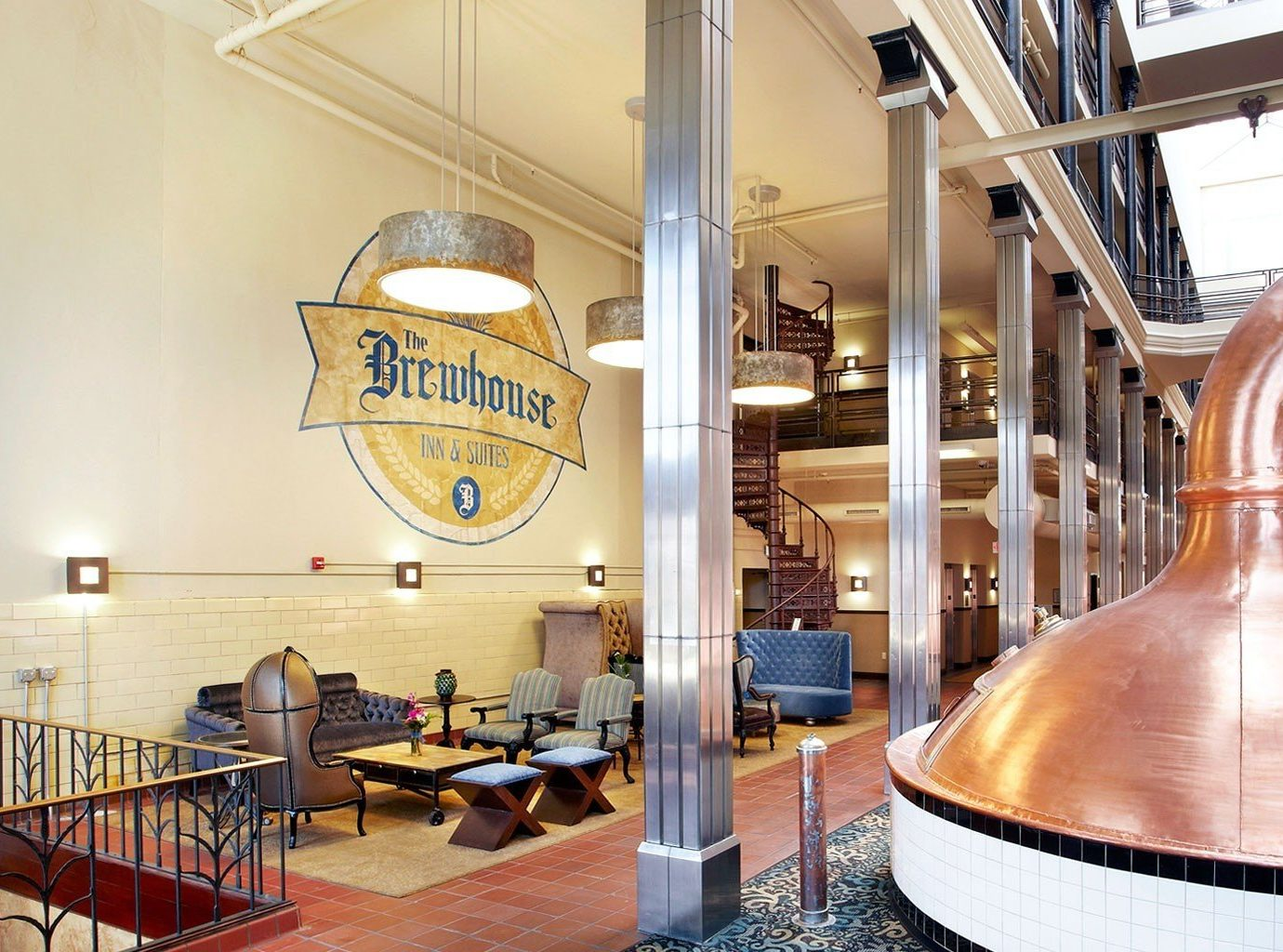 Food + Drink indoor chair building restaurant interior design tourist attraction Lobby furniture