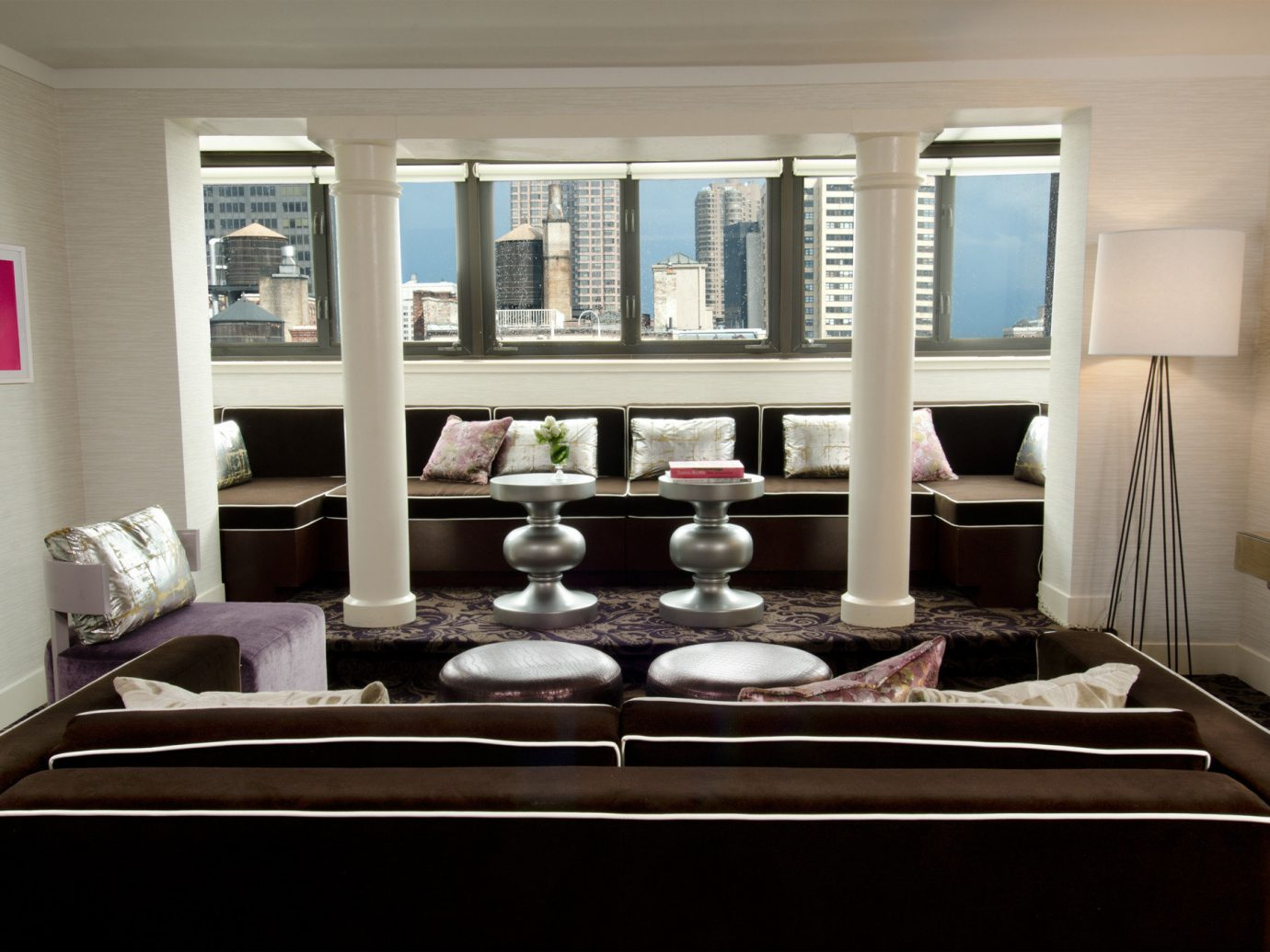 Boutique City Living Modern Trip Ideas indoor wall window living room room dining room property ceiling home interior design furniture table estate Design condominium window covering decorated