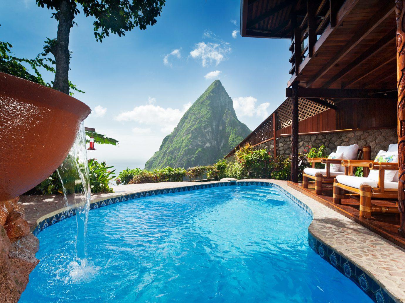 Adult-only Honeymoon Hotels Luxury Luxury Travel Play Pool Resort Romance Scenic views sky water swimming pool leisure vacation estate resort town Villa backyard swimming